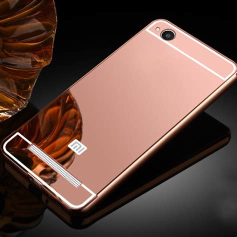 Softcase Mirror Xiaomi Redmi 4a luxury plating frame mirror back for xiaomi redmi 4a