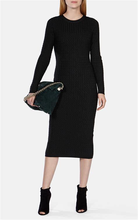 Midi Dress Knit 2 millen cable knit midi dress in black lyst