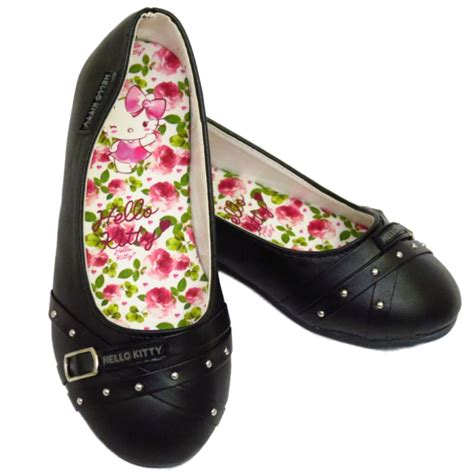 hello shoes black hello slip on school dolly
