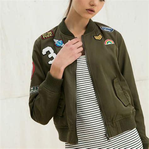 Casual Bomber Army fashion army green bomber jackets 2016 coat