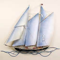 wall designs metal sailboat wall schooner metal