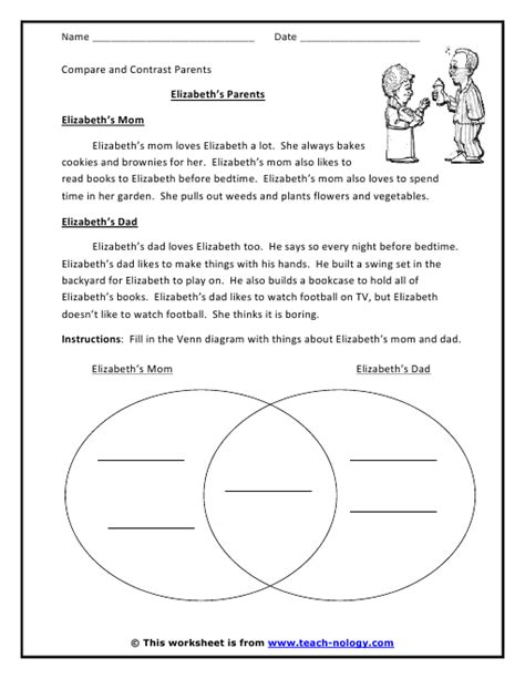 biography compare and contrast worksheet download compare contrast worksheets worksheets releaseboard free