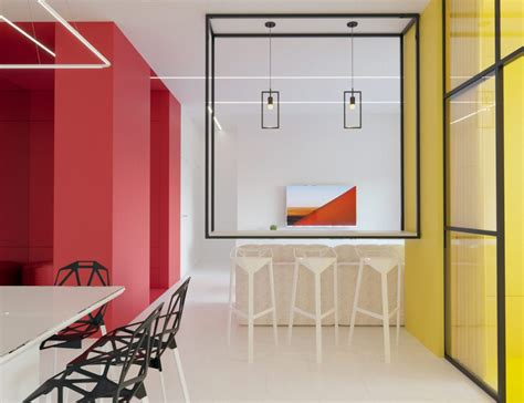 mondrian inspired interior  modern geometric accents