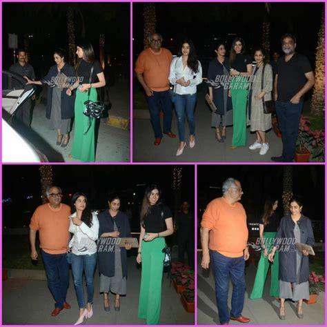 sridevi family sridevi and family bond over dinner with r balki and gauri
