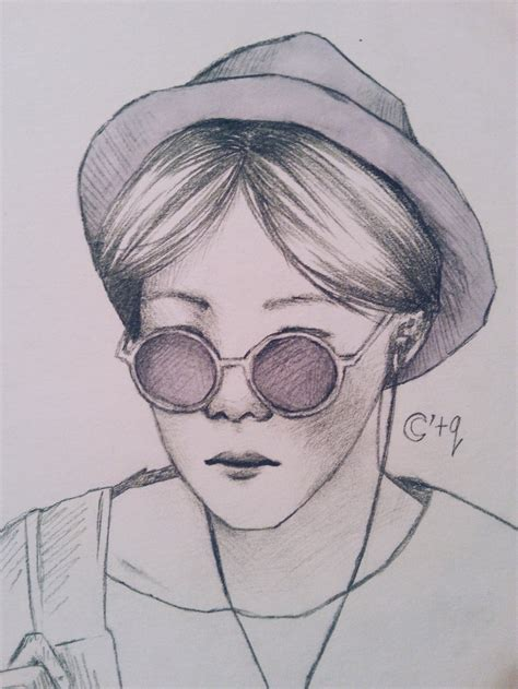 Jhope Drawing Easy by J Bts By Moonatq On Deviantart