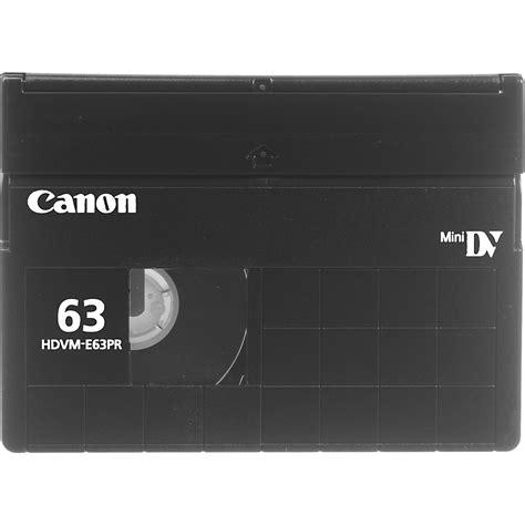hdv cassette canon hdvm e63pr digitalmaster hdv cassette 63 minutes