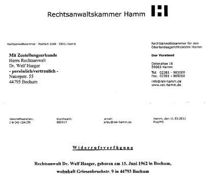 Adrebe Anschrift Herrn Und Frau Dummheit Willk 252 R Gr 246 223 Enwahn Rechtsanw 228 Lte Kanzlei Hoenig Info Strafverteidiger In