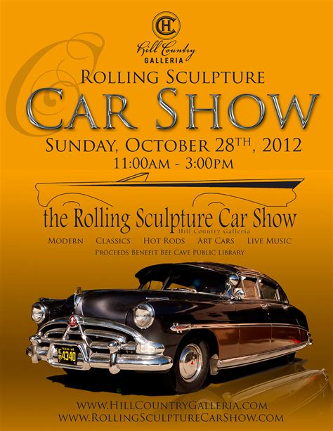 Poster Auto by Annual Car Show Posters Rolling Sculpture Car Show