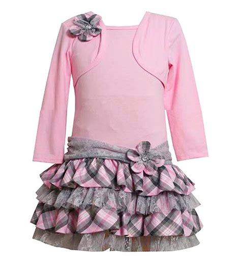Bonnie Jean - new toddler bonnie jean sz 2t pink grey plaid lace