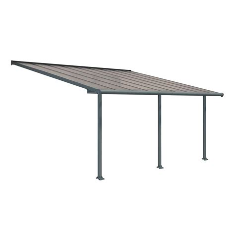 18 foot awning palram feria 10 ft x 10 ft grey patio cover awning 702722 the home depot