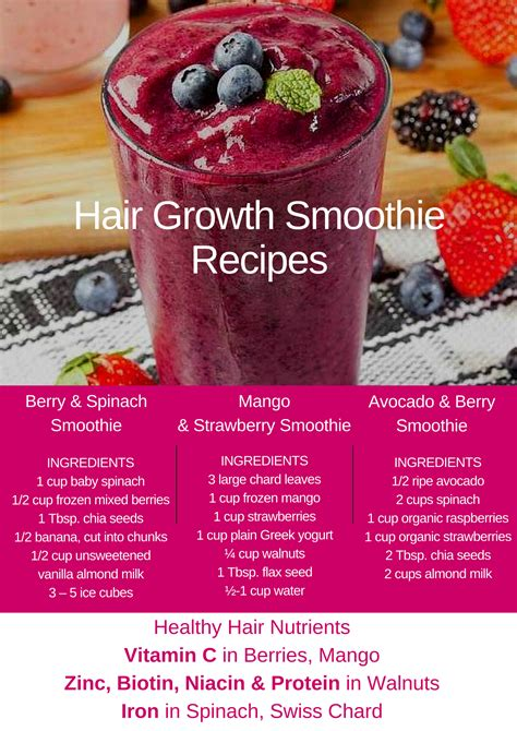 2 fruit smoothie recipe avocado and berry hair growth smoothie shakes and