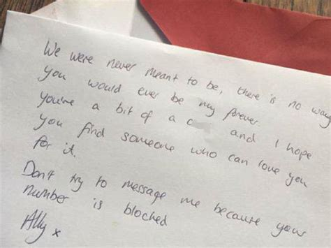 up letters boyfriend exles leaves breakup note with flowers for his ex