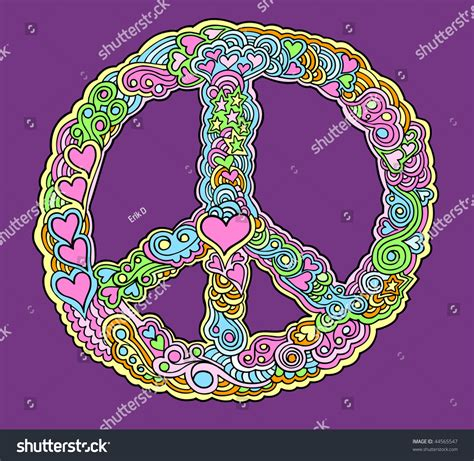 vector doodle sign peace sign doodle sketch drawing vector 44565547
