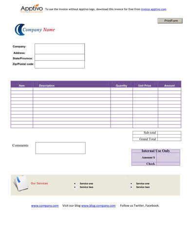 internal invoice template sales invoice templates 27