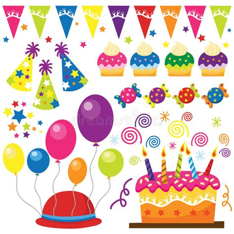Confetti Decorations by Confetti Clipart Birthday Decoration Graphics