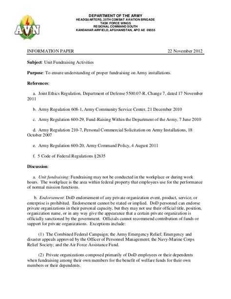 19 fundraising agreement template information paper