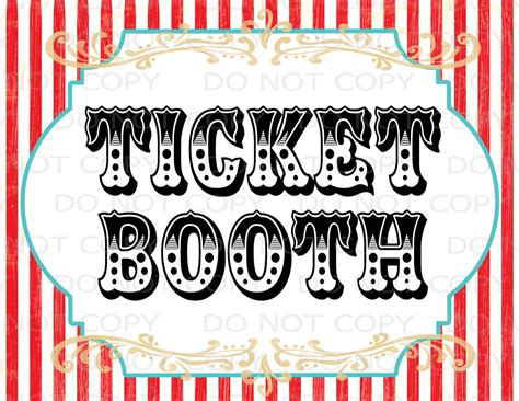 Circus Signs Template by Printable Diy Vintage Circus Ticket Booth Table Sign