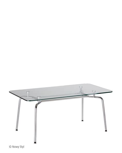 Hello Table L by Hello Duo Table Gl Chrome Tables Nowy Styl