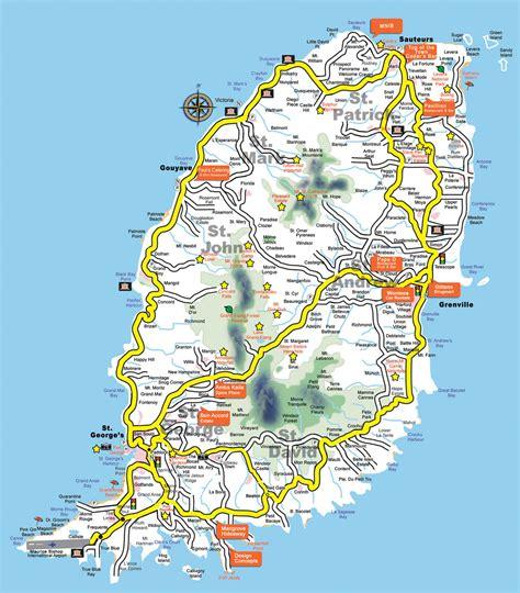 map of grenada island grenada satellite map