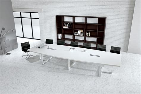 White Conference Table Large White Contemporary Boat Conference Table Ambience Dor 233