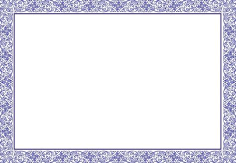 Border Card Template by Pdf Gift Certificate Template Sle Gift Certificate