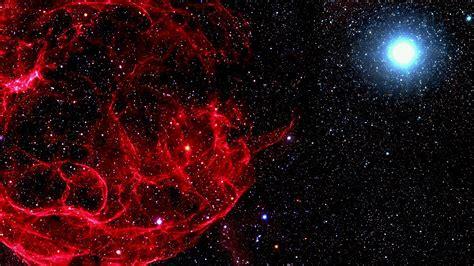 mn space red bigbang star art nature papersco