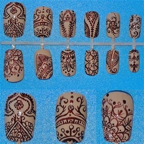 henna tattoo and nails henna nail nail gallery