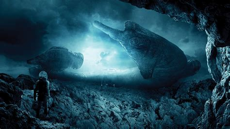 Octopus Home by Landscape Digital Art Prometheus Movie Spaceship