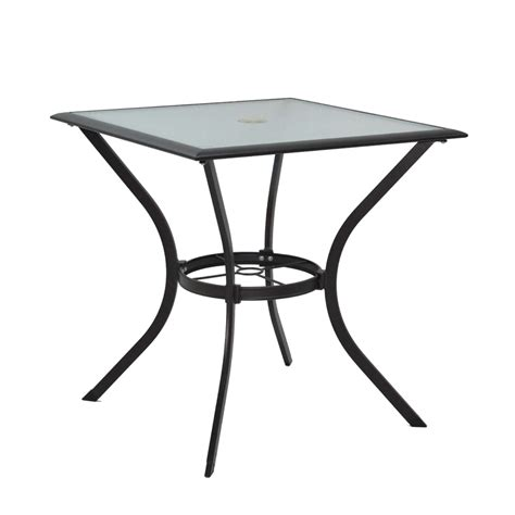 Bistro Table Patio Shop Garden Treasures Eastmoreland Glass Top Textured Brown Square Patio Bistro Table At Lowes