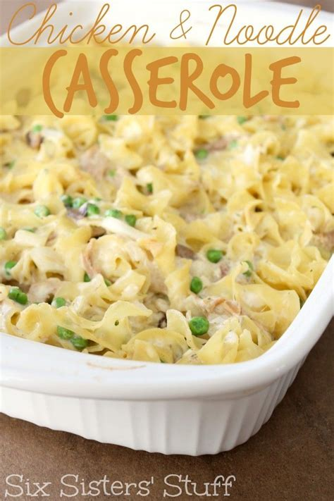 easy chicken and noodle casserole on myrecipemagic comchicken soups chicken noodle casserole