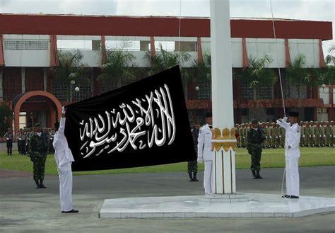 2 Lembar Bendera Tauhid Panji Islam Rayah Liwa Murah Bonus Pin Ganci 2 ingin menjadi muttaqin sebenarnya kibarkan bendera islam