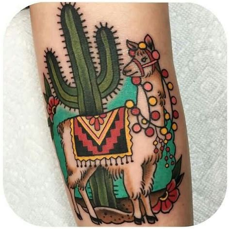 llama tattoo designs cactus and llama tattoos piercings