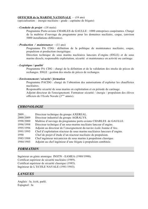 Exemple De Lettre De Motivation Marine Nationale Exemple Cv Mecanicien Naval Cv Anonyme