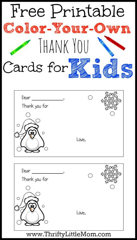 free thank you card template from students color your own printable thank you cards for