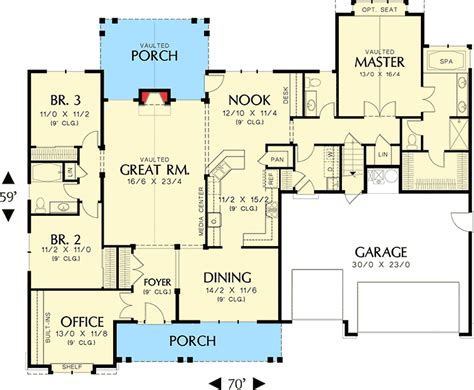 empty nest floor plans an empty nester s dream home 69005am architectural