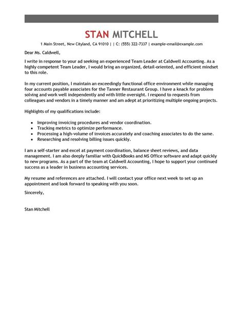 sle cover letter for team leader position guamreview com