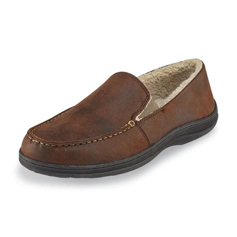 slipper shoes mens craftsman s jove moccasin slipper brown