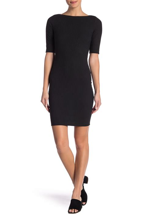 nordstrom boat neck dress socialite boatneck ribbed knit midi dress nordstrom rack