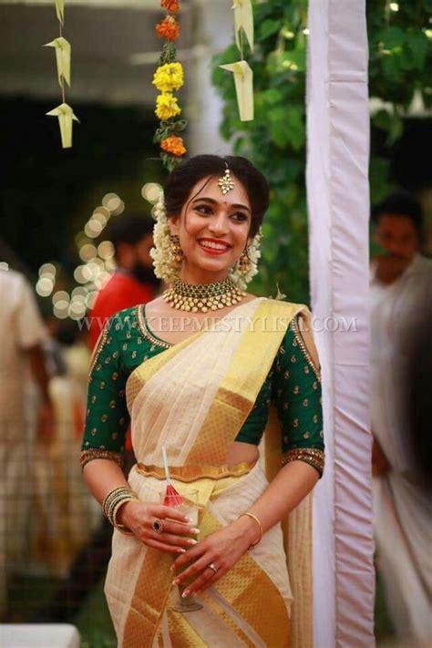 Blouse Designs In Kerala by Malayalee Wedding Saree Wedding Dress Decore Ideas