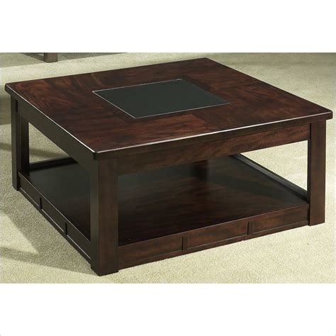 Square Wooden Coffee Table Somerton Serenity Square Wood Cocktail Brown Coffee Table
