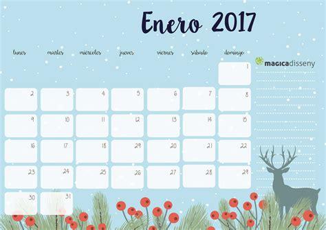 Calendario Mes De Enero 2017 Calendario Enero 2017