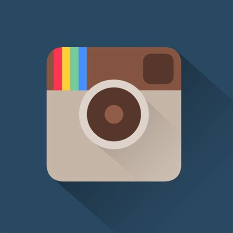 material design instagram icon instagram flat icon concept uplabs