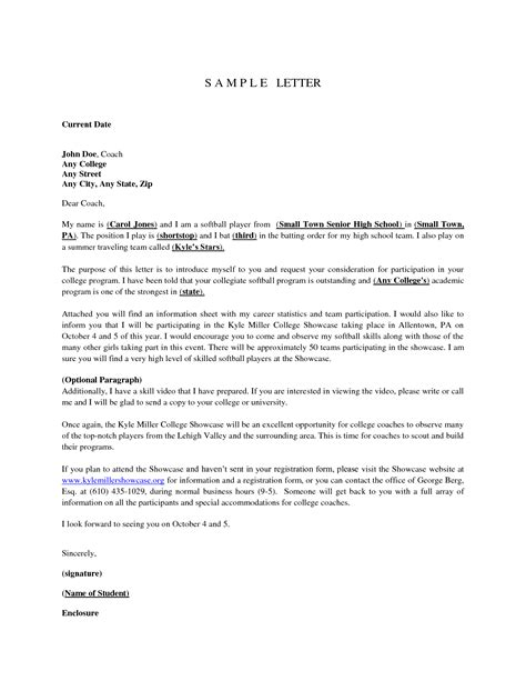 College Coach Letter Best Photos Of College Letter Of Interest Cover Sle Letter Of Interest College Coach