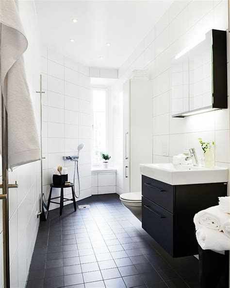 white bathroom black floor girls bathroom or guest bathroom black floor tiles black