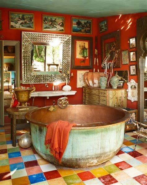 boho bathroom ideas beautiful bohemian decor ideas bohemian bathroom with