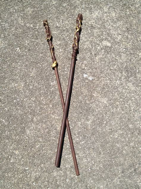 Handmade Harry Potter Wands - harry potter wands wooden dowels glue in