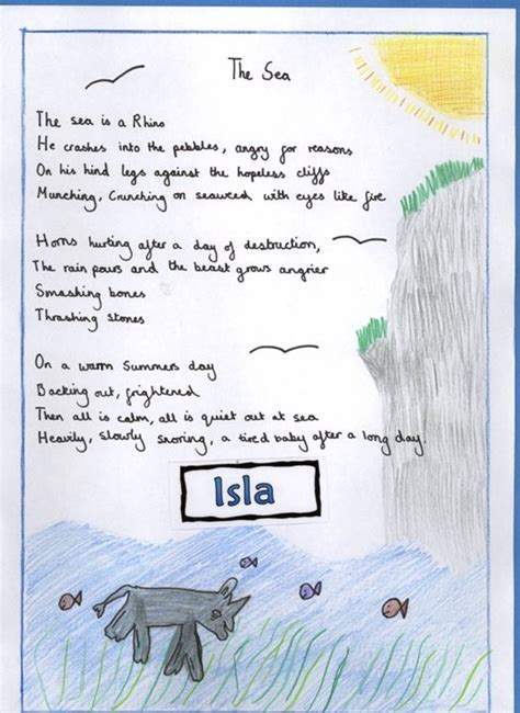 poems with a pattern year 2 holy trinity pewley down school year 5 sea poems