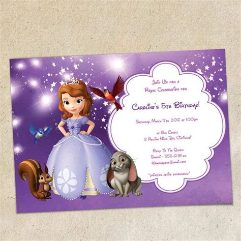 Sofia The First Party Invitation Template Instant Download Sofia The Birthday Card Template