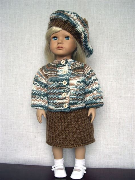 18 inch doll clothes knitting patterns 18 inch doll clothes handmade knit made to fit 18