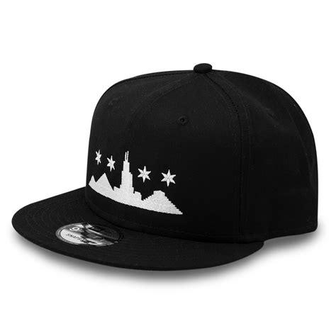 black hat chicago city scape skyline new era 9fifty snapback black